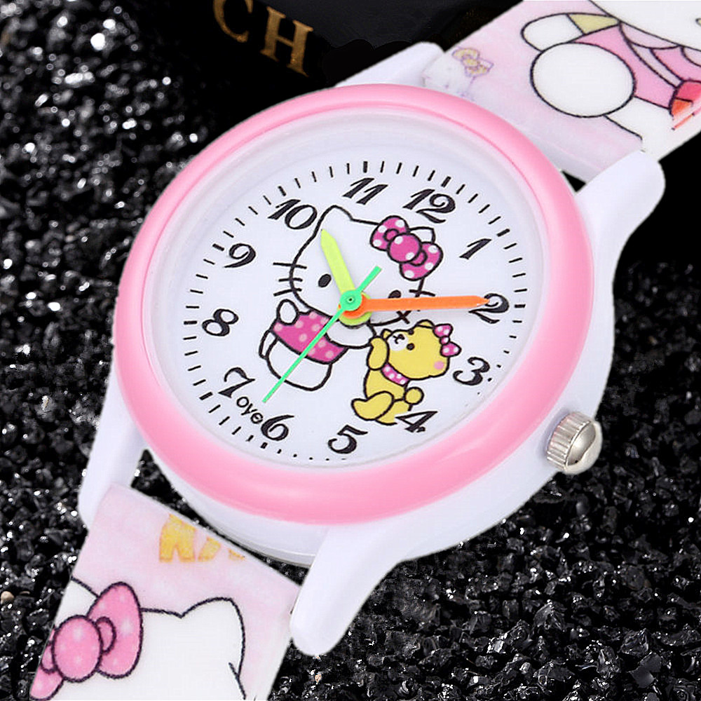 2019 New Pink Simple Children Watches Cute Special Kids Clocks Cartoon 3D Silicone Band Enfant Ceasuir Baby Gift  Quartz Watches