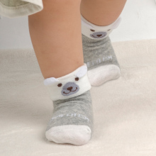 4pairs Newborn Baby Cartoon Socks For Boys Girls Toddler Infantil Anti-Slip Cotton Animal Sock Bebe Meias New Born Socks 0-24M candy color soft new born baby floor sock short anti slip ankle solid socks for infant boys girls