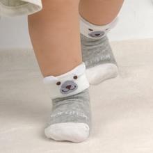 4pairs Newborn Baby Cartoon Socks For Boys Girls Toddler Infantil Anti-Slip Cotton Animal Sock Bebe Meias New Born 0-24M