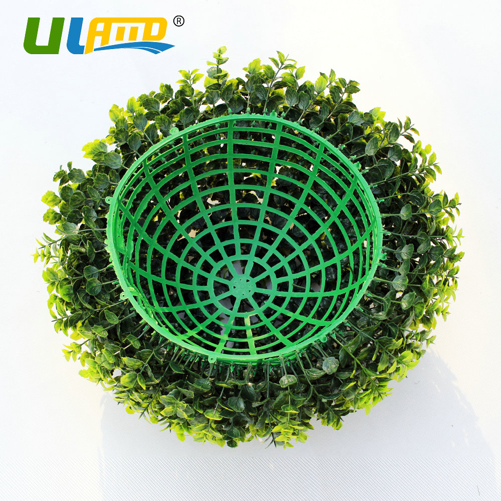 ULAND Artificial Boxwood Balls Plastic Plants Kissing Balls Faux ...