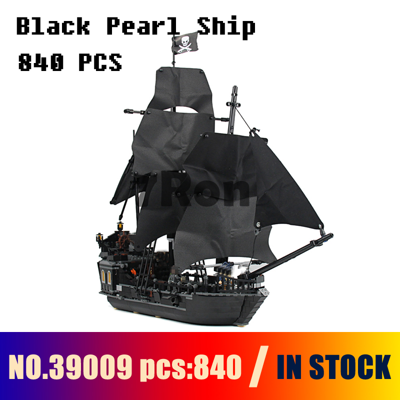 Compatible with lego 4184 Models building toy 39009 840pcs Pirates Of The Caribbean Black Pearl Ship Building Blocks & hobbies compatible with lego 4195 models building toy 39008 1222pcs queen anne s revenge pirates of caribbean building blocks