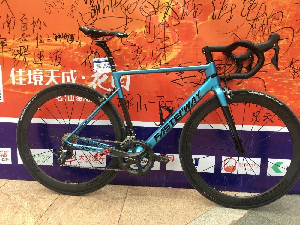 Délai de livraison rapide! 2018 super léger derect mont frein bleu noir mat ou brillant finition vélo route de cadre en carbone, expédition libre de SME