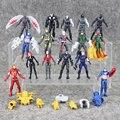 16 pçs/lote Avengersr super-heróis Da Marvel Capitão América Guerra Civil Ação PVC Figura do Homem De Ferro Homem Aranha Homem-Formiga Modelo Falcon brinquedo