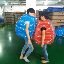 JIAINF 60*50cm Air Bumper Ball Inflatable Body Suit Eco-Friendly PVC Wearable Body Bubble Zorb Soccer Suit For Kids Knocker Ball inflatable bubbles soccer globe bumper footballs inflatable body bumper high bounce football customized color