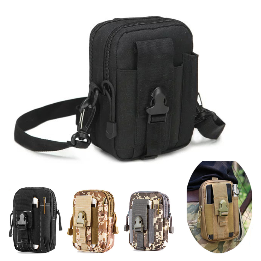Universal Outdoor Military Tactical Bag Belt Pouch Waist Cases For Samsung galaxy s5 s6 s7 edge s8 j5 a3 2016 a5 2017 Case Cover
