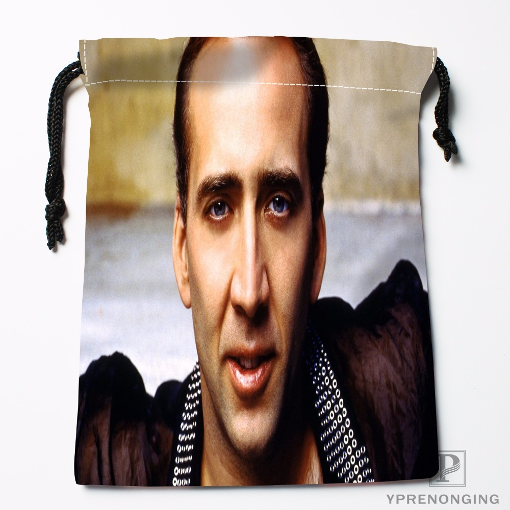 Custom Nicolas Cage Drawstring Bags Printing Travel Storage Mini Pouch Swim Hiking Toy Bag Size 18x22cm#180412-11-27