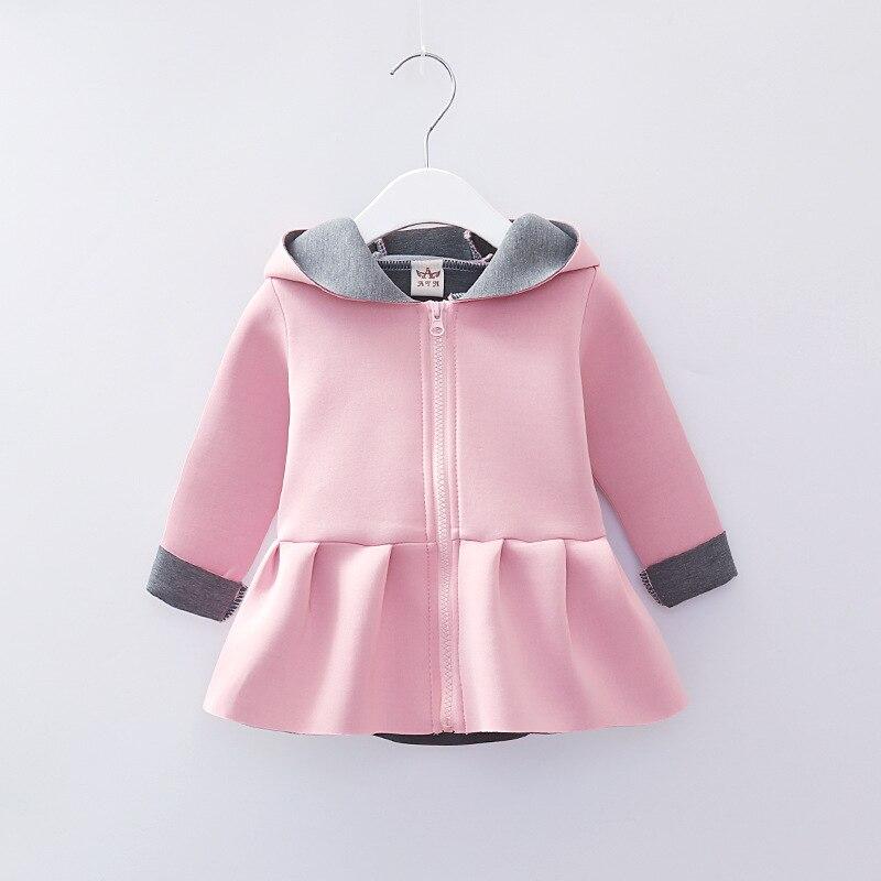 b97ba8b18790 Baby Girl Coat Jacket Long Sleeve Autumn Spring Rabbit Ear Design Hooded  Lovely Outerwear Toddler Girl