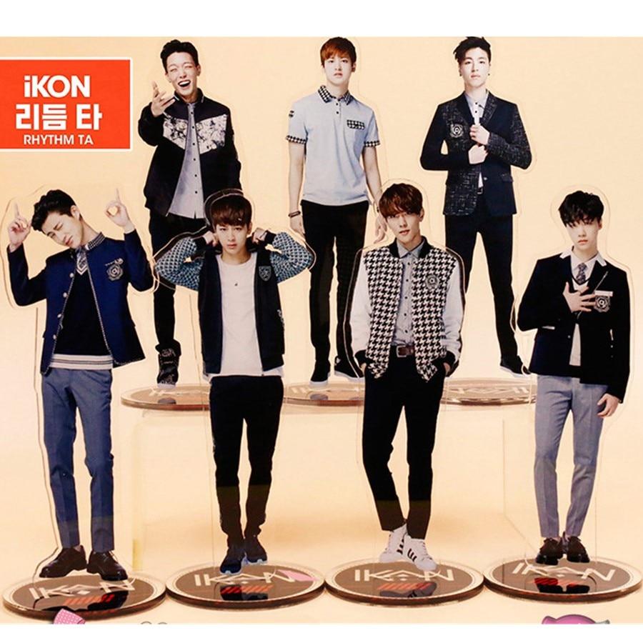 Kpop IKON Members Standing Action Table Decor Bobby B.I Acrylic Standee Action Figure Doll 21cm