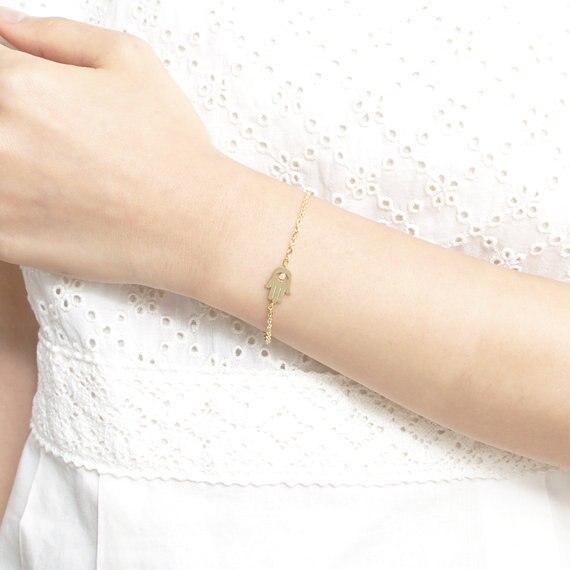 1 шт хамса ладони с кристально глаз Braclet Шарм Браслеты модные индийские украшения для Для женщин девочек повезло Подарочные