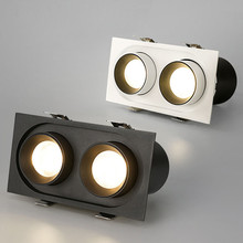 Встраиваемый прожектор двуглавый 24 Вт светодиодный Cob-прожектор high CRI RA> 93 деловое освещение для отелей освещение в помещении