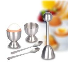 1Set Egg Maker Kitchen Sheller Eggshell Cutter 304 Stainless Steel Tool Kit