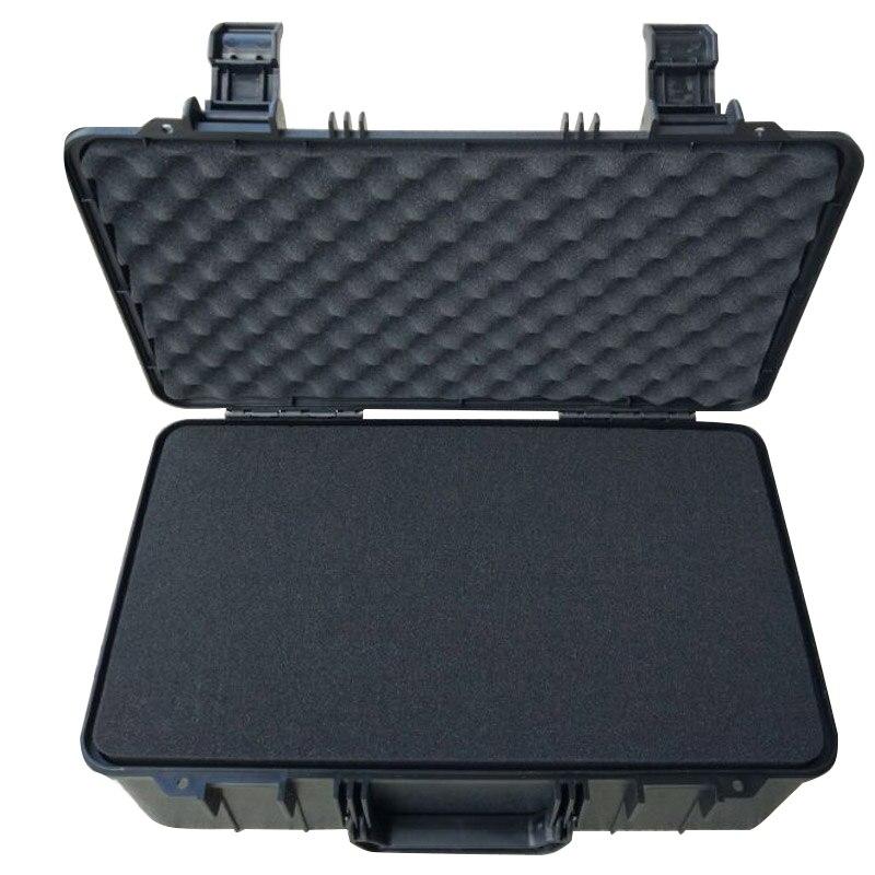 Innere größe 425*242*140 * mm gewöhnliche schwarze farbe kunststoff toolkit mit voller würfel schaum nach innen