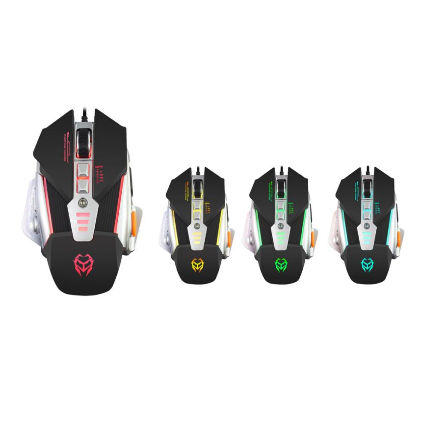 HIPERDEAL New 3200DPI Optical Adjustable 8D Button Wired Mechanical Gaming Mouse Mice Fo ...
