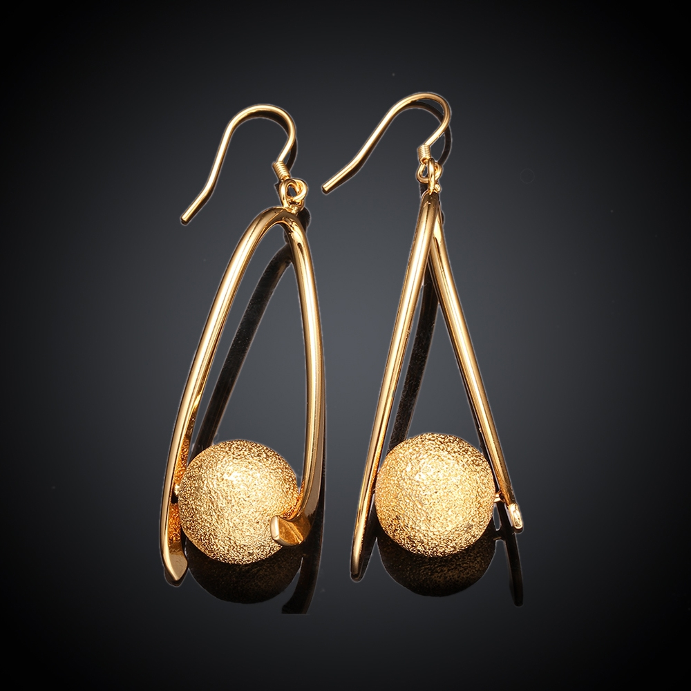 Fashion Vintage Suspension Gold Long Earrings for Women New Design ...