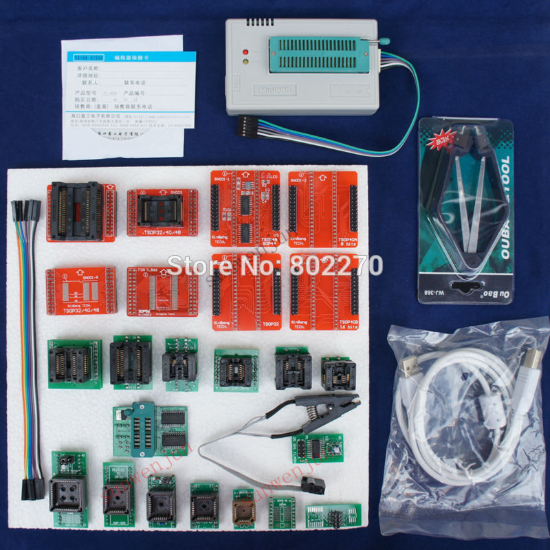 TL866A Programmer EPROM SPI FLASH AVR PIC ICSP in-circuit programming+24 components include 25 flash adapter &1.8V flash adapter removable living room english proverb design wall sticker