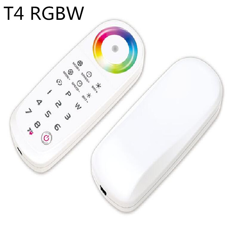 T4 2.4G LED Touch Controller RF Remote Control 8 Zone RGBW RGBWW LED Strip Light and LED Panel Lighting