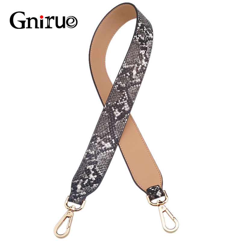 Fashion Camouflage Strap PU Leather Female Multicolor Handle Shoulder Bags Serpentine Straps Belt Accessories For Women Bag 90cm