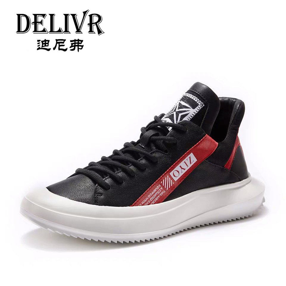 Delivr Genuine Leather Boots Men Fashion Martins Boot Man Shoes Flat S Luxury Brand Formal Shoes Men Fashion Spring Shoes Men