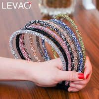 Levao 2PC/Set Hair Accessories Solid Glitter Hairband for Girls Fashion Shiny Candy Color Children/Women Hair Hoop Headbands
