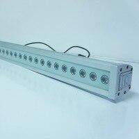 36X1 vatios RGB Lineal LED Colada de La Pared con DMX LED wahser pared luz de la etapa