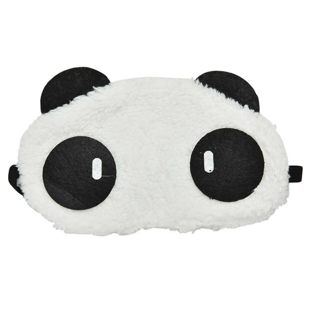 Шикарный 2018 с милой пандой спальный уход за кожей лица маска для сна, повязка на глаза тени для век Путешествия сна повязка для глаз оптовая продажа
