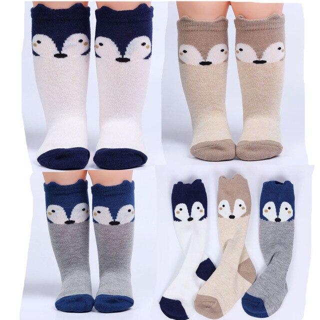 1 Pair sock kids children s knee high socks fox baby leg