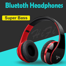 Blutooth Big Casque Audio Cordless Wireless Headphone Headset Auriculares Bluetooth Earphone For Computer Head Phone PC With Mic(China)
