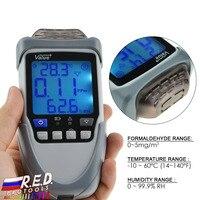 Портативный газоанализатор легкий монитор формальдегида Air Quality детектор Температура и мера влажность автоматического включения/выключен