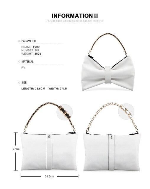 FORUDESIGNS Women Shoulder Bags Rock Ladies Skull Punk Printing Zipper Chains Bags for Ladies Vintage Style Bow Bags Bolsas