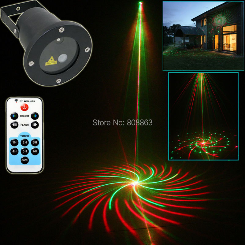 New R&G Outdoor Waterproof 12 Big Patterns Remote Laser Projector Landscape Club Party Tree Holiday Dance Garden Xmas Light T76