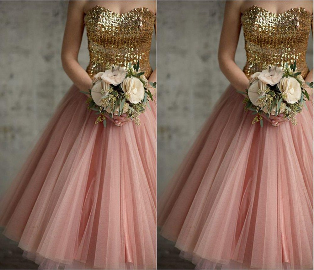 Online Get Cheap Pink Gold Bridesmaid Dresses -Aliexpress.com ...