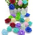 20 шт./лот 4 см Искусственный цветок розы ПЭ пена Цветочные головки розетка Скрапбукинг цветок Сделай Сам венок украшение для свадебной вечер...