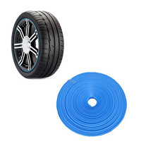 8m Car Styling Tire Tyre Rim Care Protector Hub Wheel Stickers Strip For BMW VW Golf