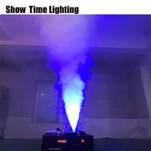 цена на dj disco effect machine vertically place 1500W Led RGB deying fog mchine remote DMX512 control make fog on the stage effect