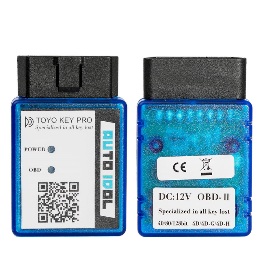 New Toyo Key Pro OBD II Support 4D G and H 40/80/128 Bit Chip All Key Lost Work Independently a bit lost