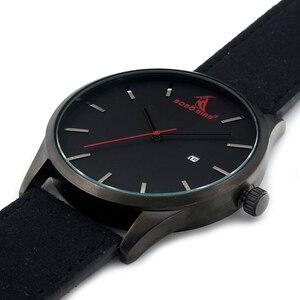Image 4 - BOBOBIRD Top Luxe Merk Quartz Horloges Business Militaire Mannen Horloges Lederen relogio masculino Lederen Band Klok