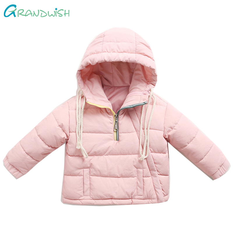 Grandwish Winter Hooded Down Jackets for Girls Children Warm Outerwear for a Boy Kids Fashion Zipper Coat Clothing 24M-8T,TC188 casual 2016 winter jacket for boys warm jackets coats outerwears thick hooded down cotton jackets for children boy winter parkas