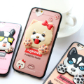 Fashion 3D Cute Dog Silicone Back Case Cover Husky Pug Boston Terrier Dog For iPhone 6 6s 6plus 6s plus Rubber Case