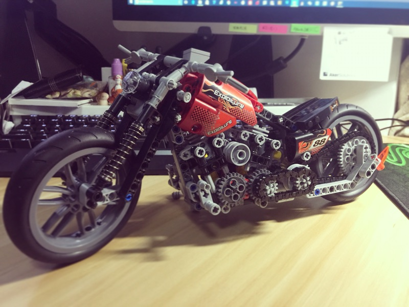 Decool 3354 Technic Motorbike Motorcycle Building Block Brick Toy Set Boy Game Gift Compatible with Lepin Leping