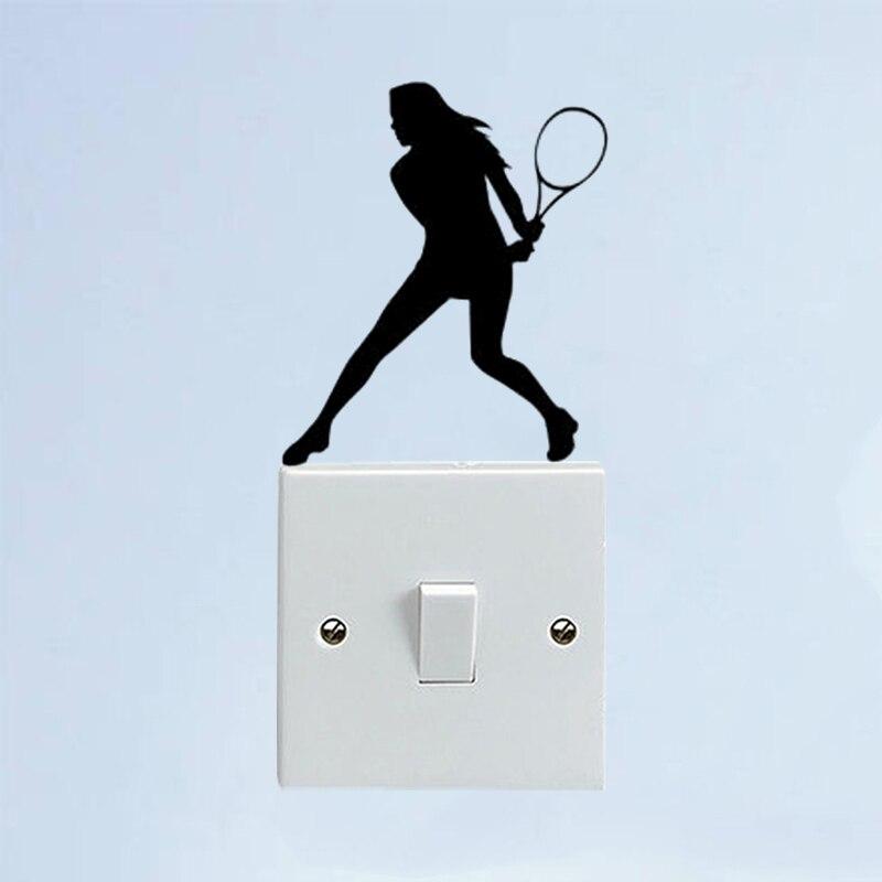 . Tennis Sport Bedroom Vinyl Wall Decal Fashion Home Decor Switch Sticker  6SS0545