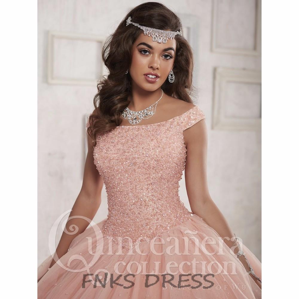 5579bd0d7 Off Shoulder Princess Peach Pink Quinceanera Dresses vestidos de 15 anos  Pageant Beading Corset Ball Gown Sweet 16 Dress QD20-in Quinceanera Dresses  from ...