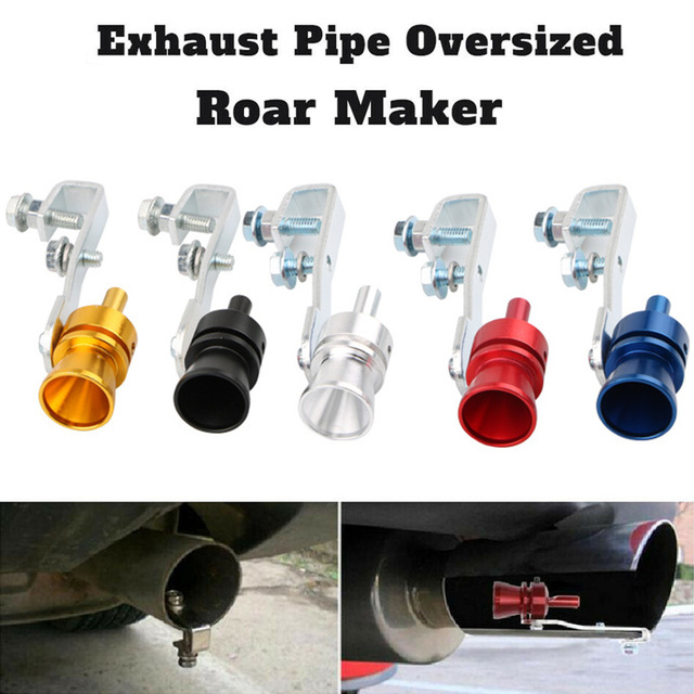 Hot Exhaust Pipe Oversized Roar Maker Simulator Car Sound Whistle Durable Accessory BX