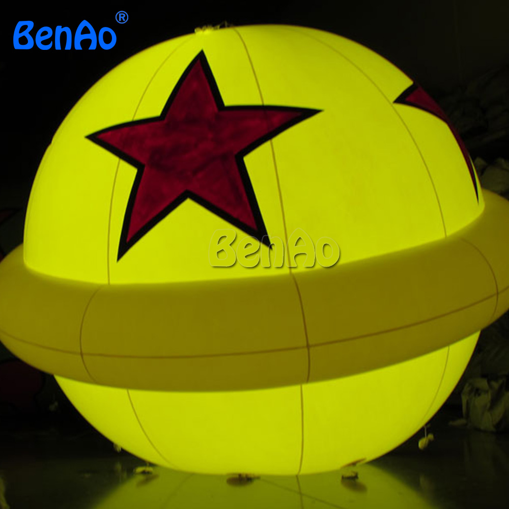 AO739 BENAO Free shipping  LED inflatable ball with star print/Digital Printing large PVC inflatable playground balloon for saleAO739 BENAO Free shipping  LED inflatable ball with star print/Digital Printing large PVC inflatable playground balloon for sale