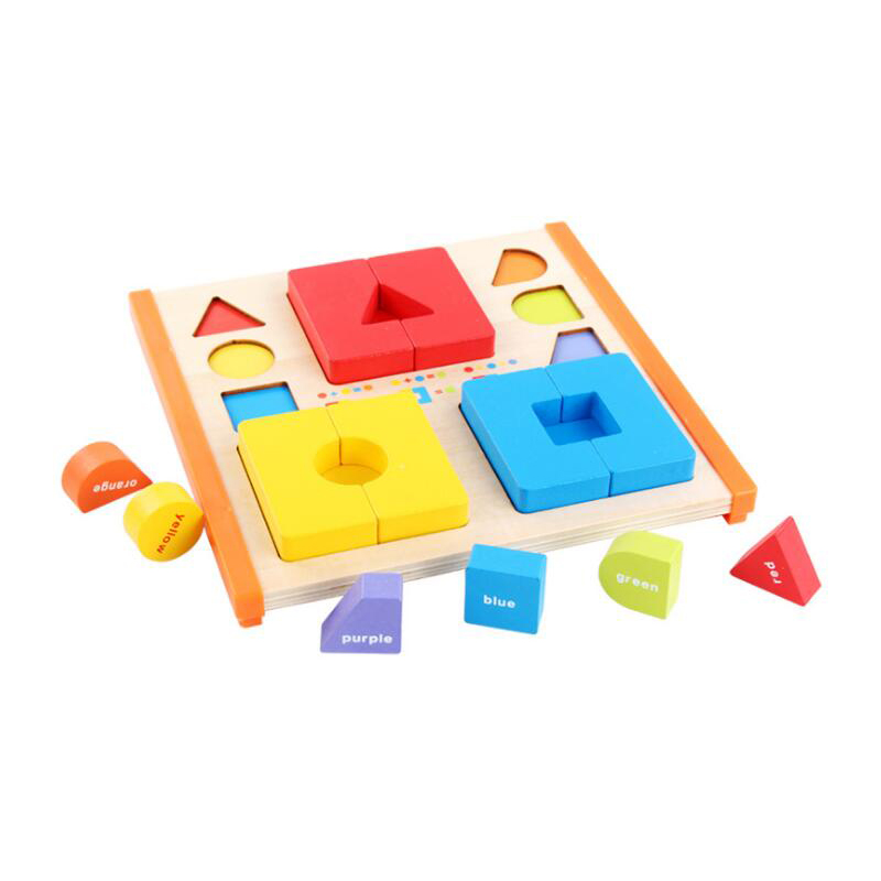 Montessori Early Educational Wooden Toys Color Mixed Puzzles Preschool Children Teaching Aids for Gifts