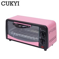CUKYI 6L Household Electric baking oven toaster pizza bakery machine multifunction mini oven 650W with 15min timer baking EU 220