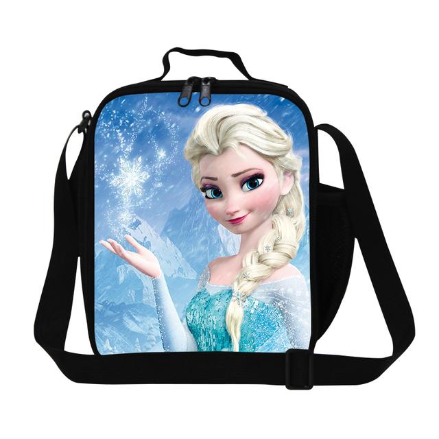 Anna imprimir aislado almuerzo bolsa para las niñas de la escuela, lindo elsa diseño embroma la caja de almuerzo bolsas, mejor regalo térmica meal bag para adolescentes