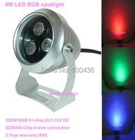 Free shipping !!CE,IP65,DMX compitable,high power 9W LED RGB spotlight,outdoor LED spotlight,12V DC,2 year warranty,DS 06 26 9W