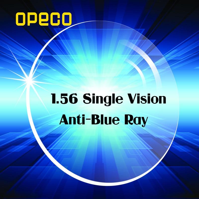 Opeco 1.56 Index Anti Blue Ray Single Vision Lenses Clear Color Radiation Prescription Myopia or Reading Eye Lens