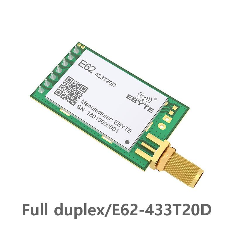 Módulo de rf 433MHz TCXO Full Duplex ebyte E62-433T20D iot Transceptor Sem Fio de Longo Alcance do Transmissor e Receptor UART
