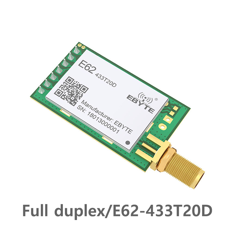 433MHz TCXO Full Duplex Rf Module Ebyte E62-433T20D Long Range Wireless Transceiver Iot Transmitter And Receiver UART